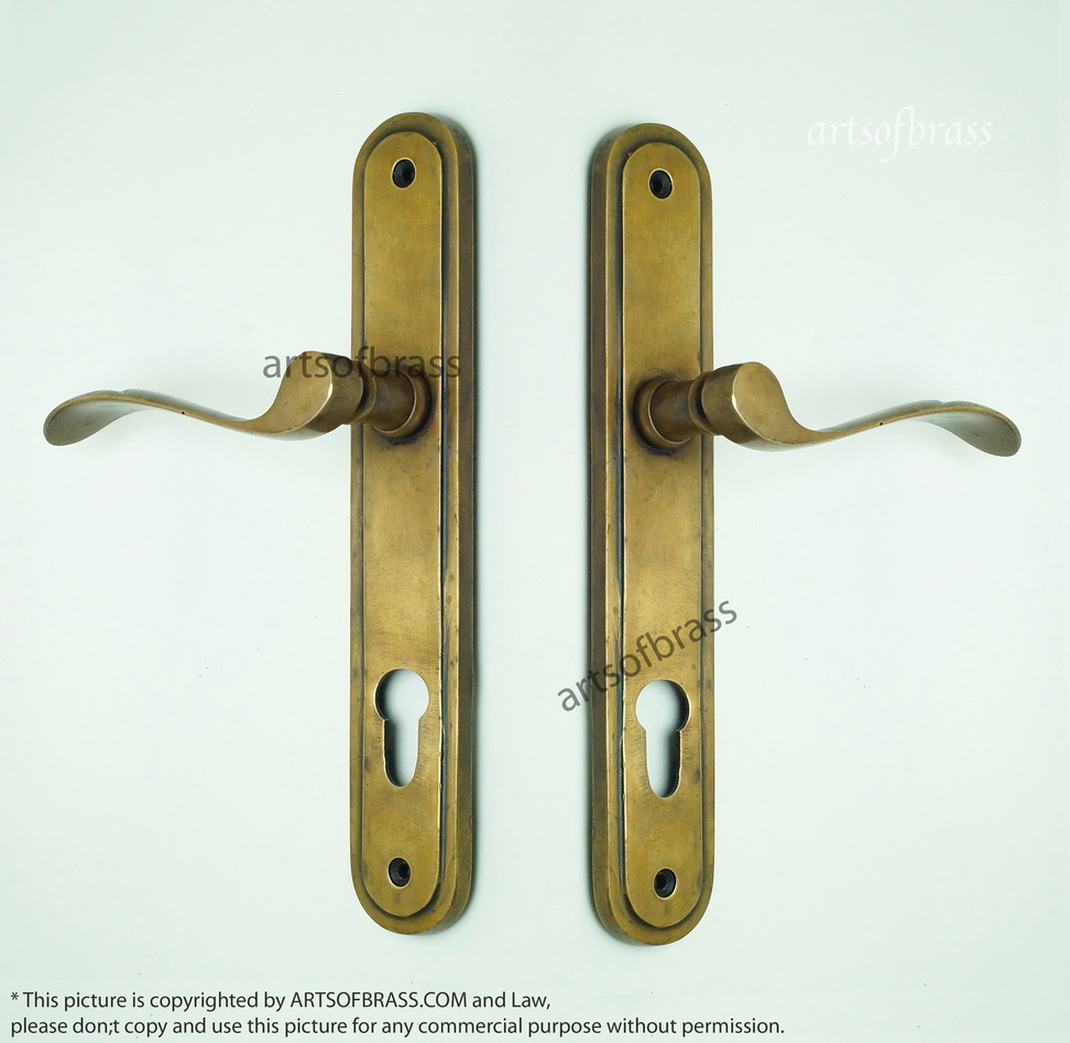 Vintage exterior door hardware for Entry hardware