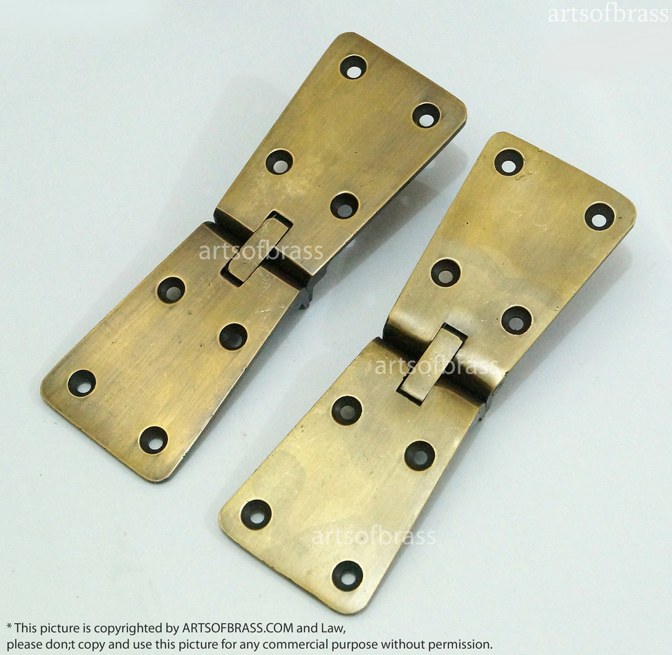 Merveilleux 4.92u2033 Inches Lot Of 2 Pcs Vintage Old Western Retro Bar Hinge / Hinges  Solid Brass Cabinet Door ...