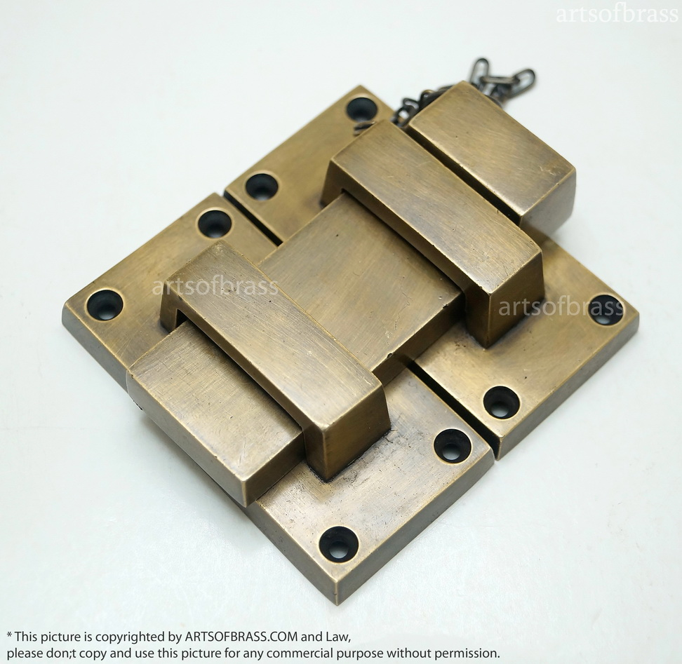 Bar Gate Latch : Latch and lock ″ inches vintage solid brass western