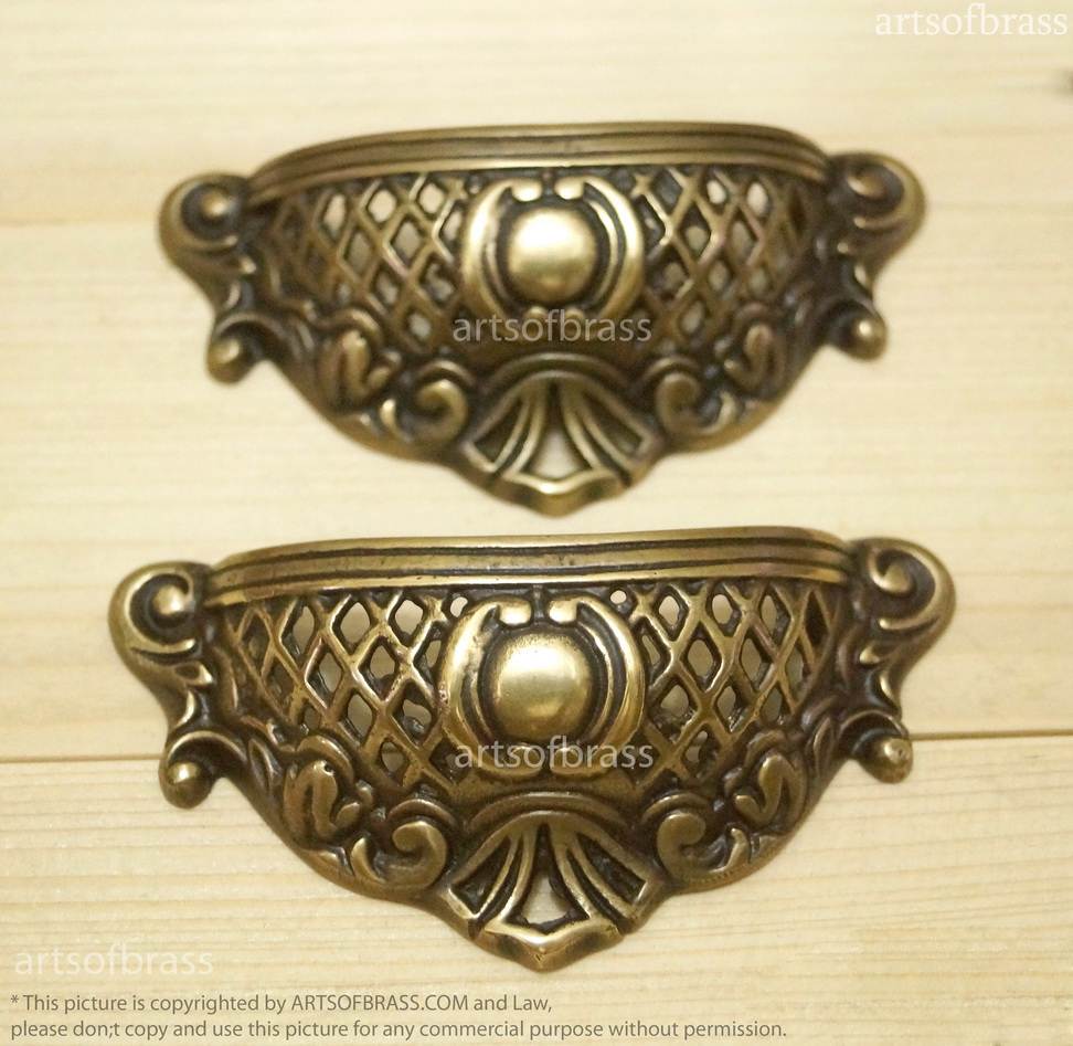 vintage eastlake furniture ornate pull handle drawer brass bin pulls. Black Bedroom Furniture Sets. Home Design Ideas